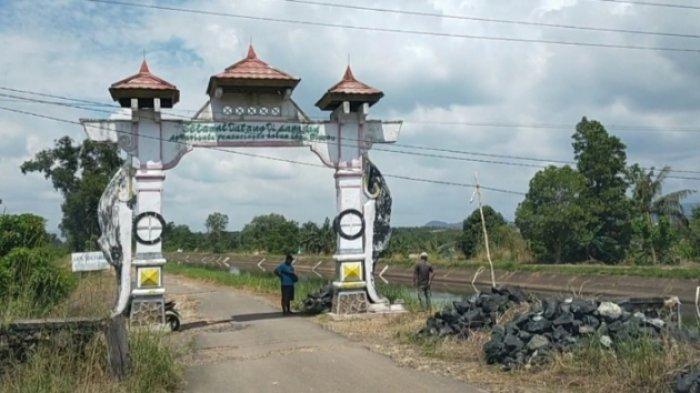 Wisata Kalsel, gerbang masuk wisata kuliner lesehan tambak ikan Bincau Kecamatan Martapura Kabupaten Banjar.