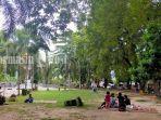 Wisata Kalsel, Ada Tempat Duduk Lesehan di Taman Puteri Junjung Buih HSU