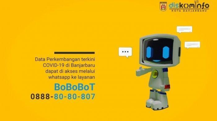 Bobobot Aplikasi Chatbot Informasi Covid -19, Banjir dan CCTV dan Hotspot Banjarbaru