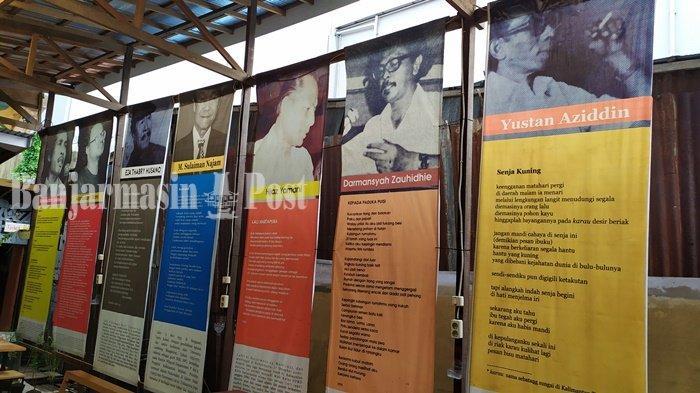 Kampung Buku Banjarmasin, Pajang Nama Sastrawan Lokal Beserta Karyanya