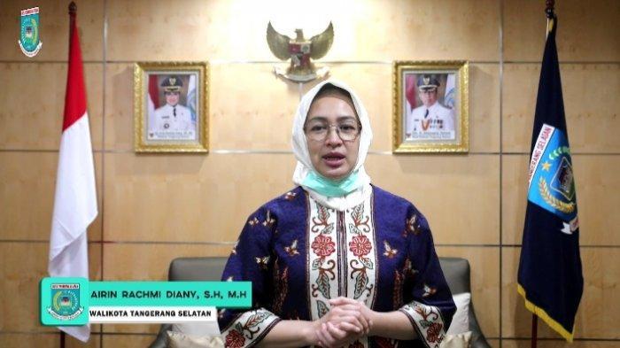 Airin Rachmi Akhiri Masa Jabatan Wali Kota, Balai Kota Tangsel Dipenuhi Karangan Bunga