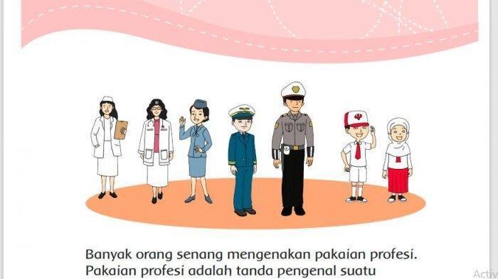 KUNCI JAWABAN Tema 7 Kelas 3 Halaman 107 108 Perkembangan Teknologi Produksi Sandang