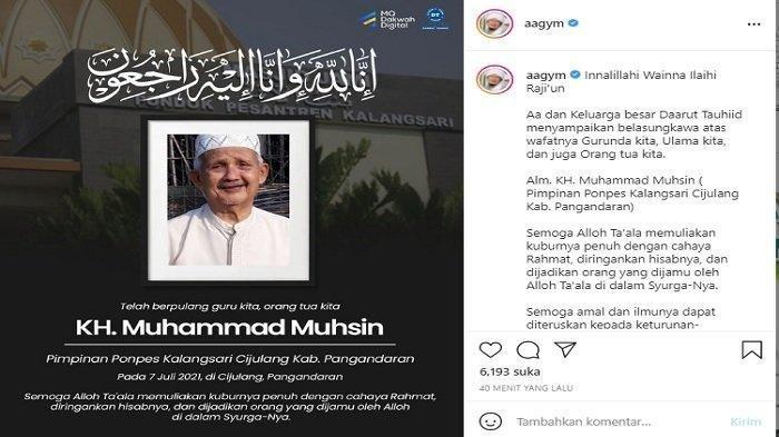 Kabar Duka, KH Muhammad Muhsin Mertua Aa Gym & Ayah Teh Ninih, Meninggal Dunia di Usia 81