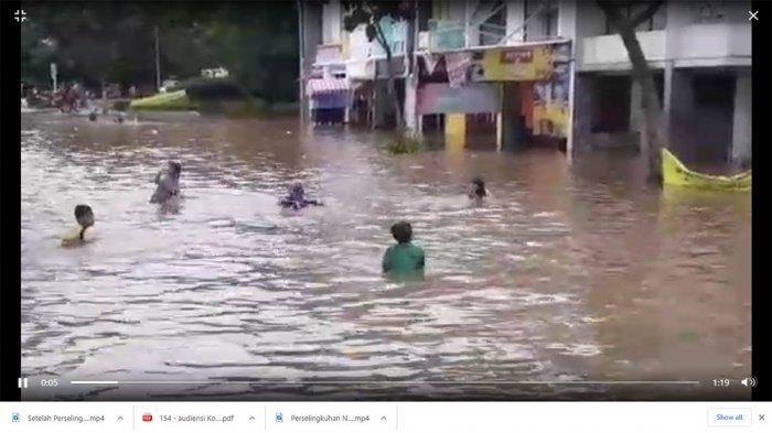 Jalanan di Serpong Utara Jadi Kolam Renang,Gubernur Banten Cek Banjir: Gulung Celana dan Bercaping