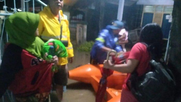 3 Kecamatan di Kabupaten Lebak Terendam Banjir Akibat Hujan Lebat, BPBD Lakukan Proses Evakuasi
