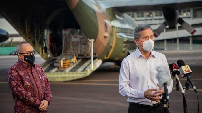 Indonesia Dapat Bantuan Medis dari Singapura Berupa APD, Ventilator Hingga Tabung Oksigen