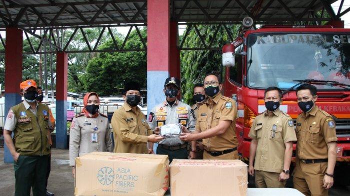 Dukung Pembelajaran Tatap Muka, BPBD Kabupaten Serang Bagikan Bantuan 20.000 Masker