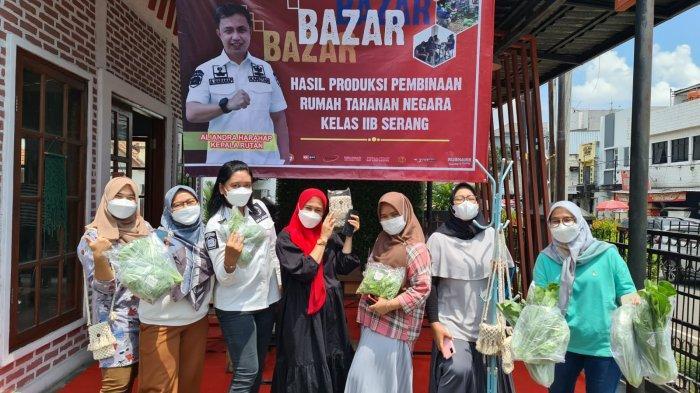 Rutan Kelas IIB Serang Gelar Bazar, Jual Hasil Berkebun dan Kerajinan Tangan Warga Binaan