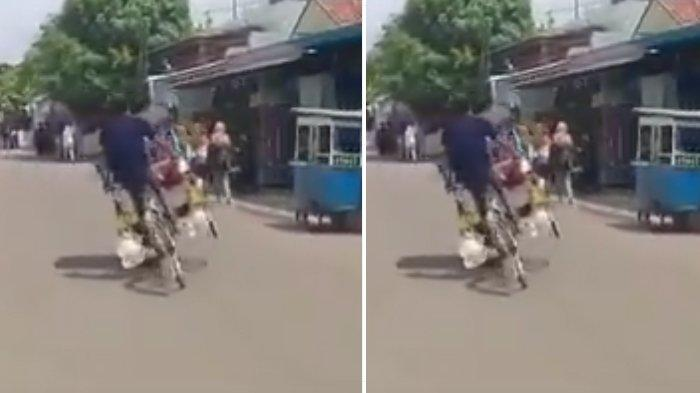 Viral Video Tukang Becak Ugal-ugalan di Jalan Raya, Hampir Nabrak Motor Hingga Pejalan Kaki