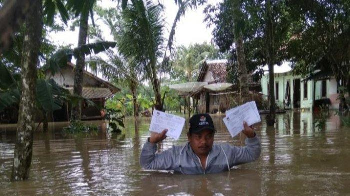 H-2 Jelang Pemungutan Suara, Lima Kecamatan di Kabupaten Serang Tergenang Banjir
