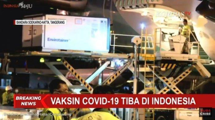 47 Dosis Vaksin Sinovac dari Cina Tiba di Bandara Soekarno-Hatta Minggu Siang, Pengiriman ke-8