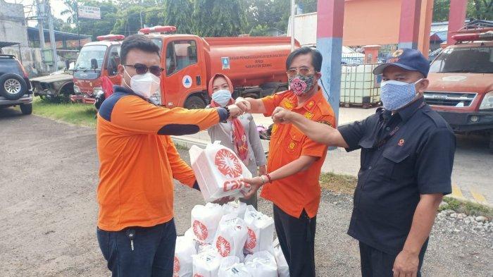 Pemkab Serang Salurkan Bantuan kepada Warga yang Isolasi Mandiri, 10 Relawan BPBD Menyebar