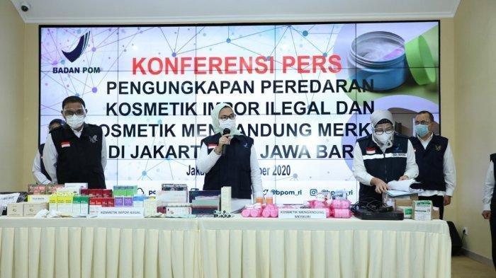 Selama Satu Bulan Terakhir, BPOM Berhasil Menyita Rp 10 Miliar kosmetik Ilegal dari China dan Korea