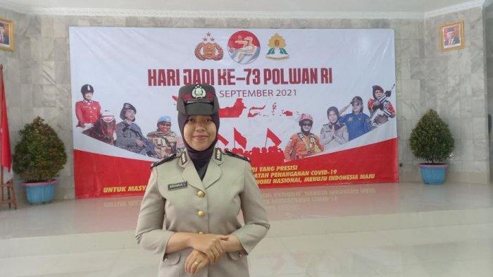 Briptu Brinna Listiyani, Polwan Berprestasi Tangani 205 Personel Polres Cilegon yang Terpapar Covid