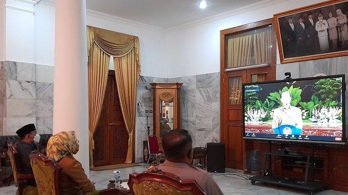 Bupati Serang Ikuti Rapat Virtual soal Perkembangan Kasus Covid-19, Jokowi Peringatkan Banten