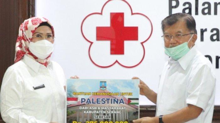 Pemkab Serang Serahkan Donasi untuk Palestina via PMI, Dihimpun dari ASN-Masyarakat Kabupaten Serang