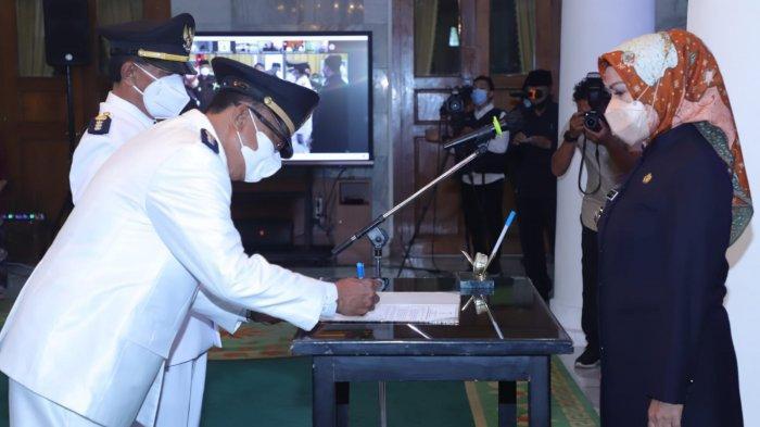 Sejumlah Pejabat Kabupaten Serang Dilantik, Bupati Ingatkan Amanah dan Tidak Boleh Kerja Lambat