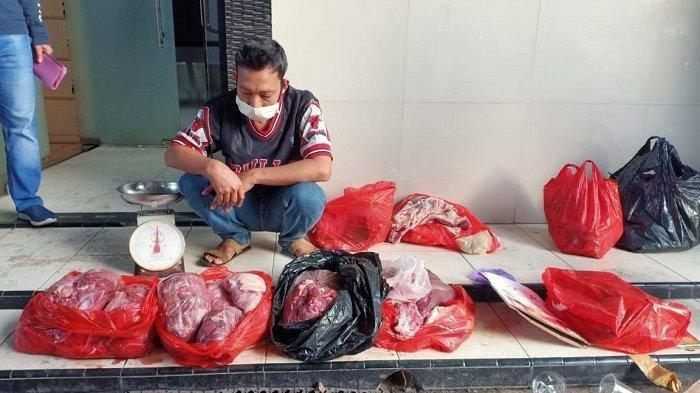 Polisi Tangkap Pedagang Daging Sapi yang Mencampur Daging Babi di Kota Tangerang