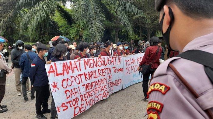 Gelar Demo Sikapi Tindakan Represif Polri, Aliansi Mahasiswa Tangerang: Teman Kita di Smackdown