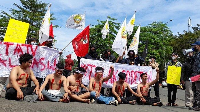 Mahasiswa dan Warga Serang Kembali Demo Tolak Pembangunan Sodetan di Sungai Ciujung
