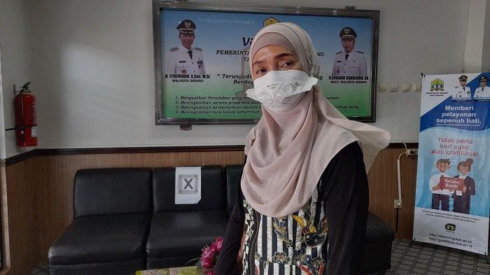 Direktur RSUD Kota Serang, Teja Ratri di kantor Pemerintahan Wali Kota Serang, Jumat (2/7/2021).