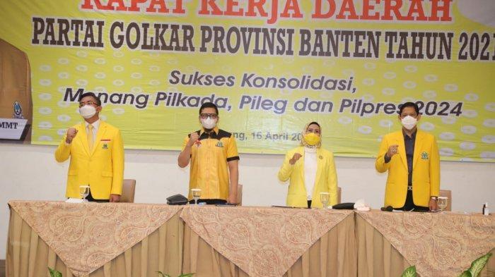 Yel-yel Airlangga Presiden dan Andika Gubernur Menggema di Sela Rakerda DPD Partai Golkar Banten