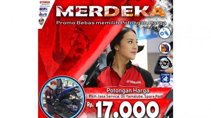 E-Poster Promo Merdeka Yamaha Jabodetabek, potongan harga Rp 17.000, berlaku 12-31 Agustus 2021