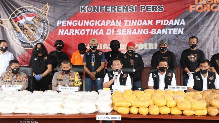 BREAKING NEWS: Bareskrim Polri Gagalkan Penyelundupan Sabu-sabu Seberat 821 Kg di Serang