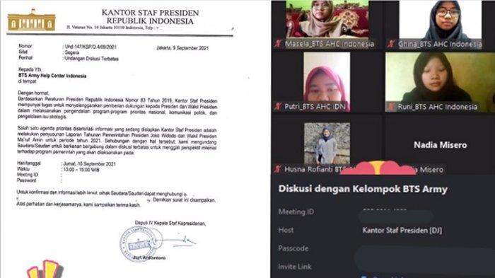 Jadi Perwakilan Milenials, Fans BTS Indonesia Diundang Kantor Staf Presiden, Warganet: Merinding!