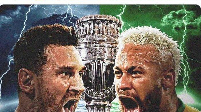 Live Streaming Brasil Vs Argentina Final Copa America 2021 Minggu Pagi Pukul 07.00 WIB
