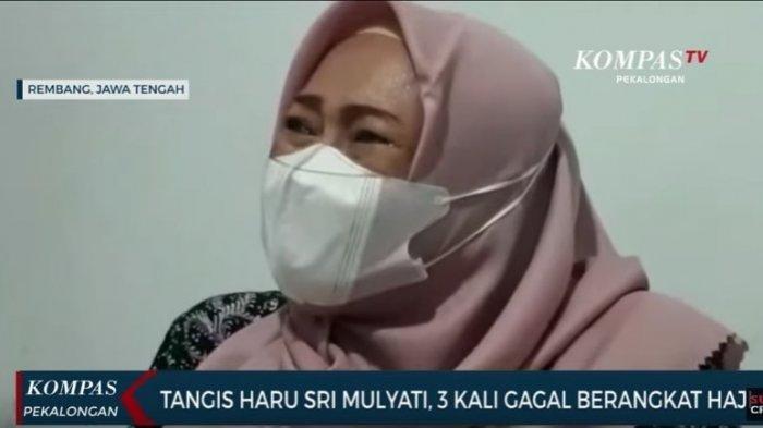 Sambil Nangis, Calon Jemaah Haji asal Rembang 3 Kali Gagal Berangkat ke Tanah Suci, Ini Ceritanya