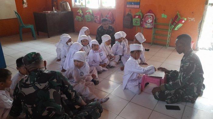 PAUD Tunas Harapan di Kampung Kebon Jaya, Desa Kendayakan, Kecamatan Kragilan, Kabupaten Serang, Banten kini mulai kembali dibuka dan melakukan pembelajaran seperti biasa.