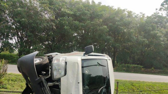 Kecelakaan di Tol Tangerang-Merak, Mobil Daihatsu Tabrak Sling Baja hingga Putar Arah Berlawanan