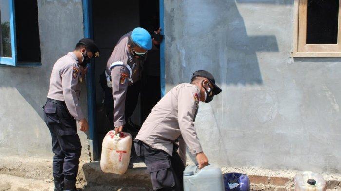 Gelar Operasi Bina Kusuma, Polres Serang Sita Ratusan Liter Miras