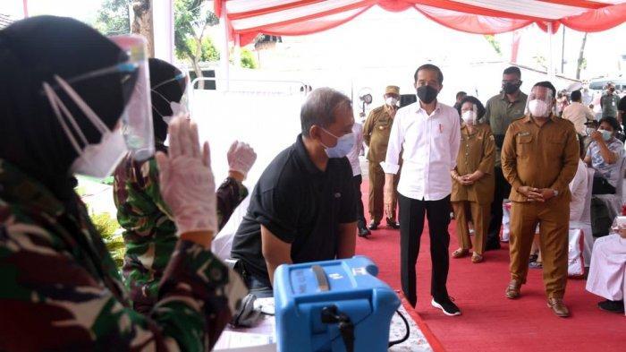 BERITA FOTO: Presiden Jokowi Tinjau Vaksinasi Covid-19 di Banten