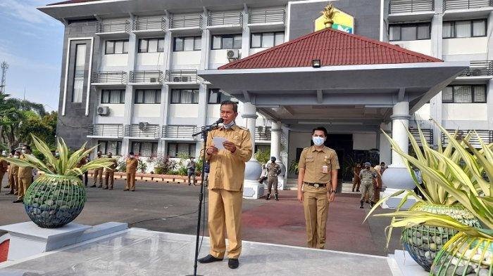 Masuk PPKM Level 2, Wali Kota Serang Pimpin Apel Pagi di Lapangan Puspemkot