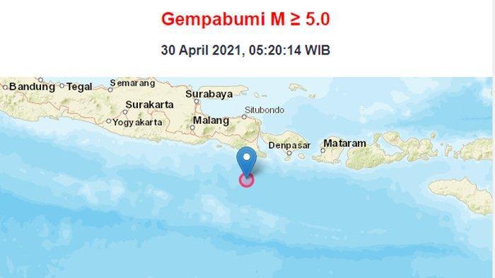BREAKING NEWS - Gempa 5,1 M Guncang Bali, Pusat Gempa di Kedalaman 10 Km di Barat Daya Jembrana