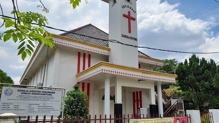 Gereja Kristen Pasundan di Jalan Sunan Kalijaga nomor 5, Kelurahan Muara Ciujung Barat, Kecamatan Rangkasbitung, Kabupaten Lebak, Banten, pada Jumat (2/4/2021).