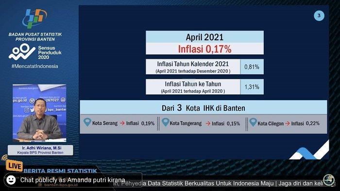 Inflasi di Banten Naik Hingga 0,17 Persen pada April 2021, Ini Penyebabnya