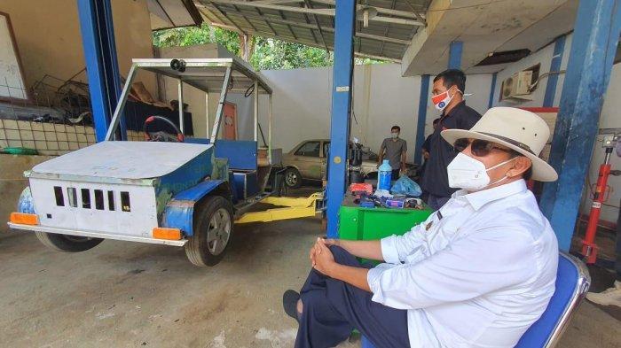 Gubernur Banten Kepincut Beli Mobil Listrik Buatan SMKN 4 Pandeglang, Ini Penampakannya