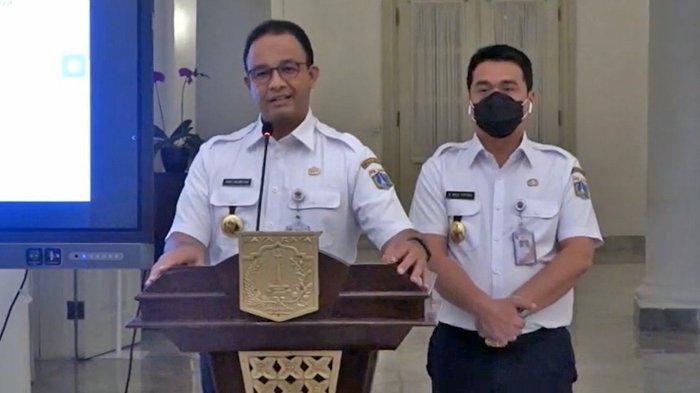 Gubernur DKI Jakarta Anies Baswedan mengumumkan penerapan PSBB total seperti awal pandemi Covid-19.