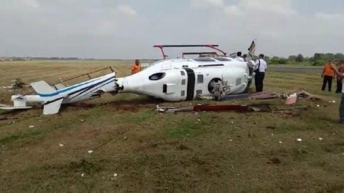 Helikopter Terjatuh Hingga Terguling di Curug Tangerang, Terhempas Saat Baru Terbang 100 Meter