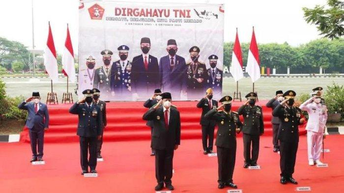 Ucapkan Selamat, Wahidin Halim Ikuti Upacara HUT ke-76 TNI Secara Virtual