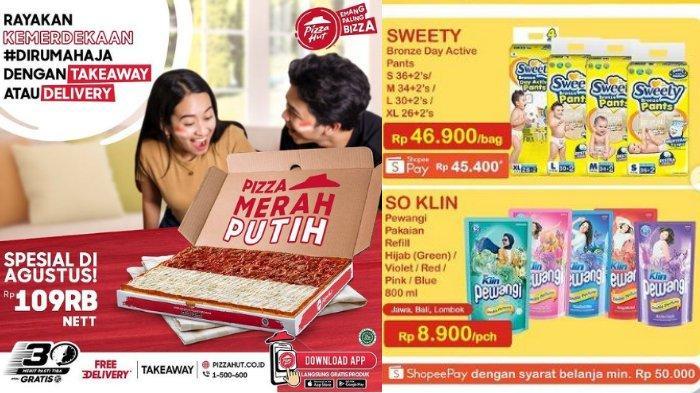 Katalog Promo Spesial 17 Agustus 2021, Extra Cashback Shopee, Promo Heboh Indomaret - Pizza Hut
