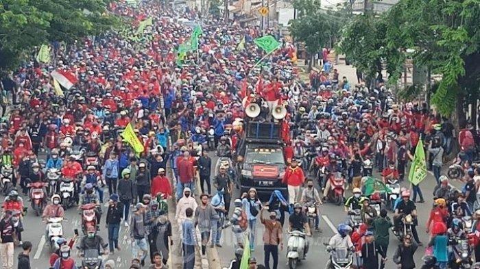 50 Ribu Buruh akan Demo May Day Tolak UU Cipta Kerja, Polisi Tangerang akan Sekat Jalan ke Jakarta