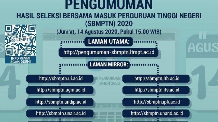 Sore Ini Pengumuman SBMPTN 2020 Disampaikan, Hasilnya Bisa Dilihat di Link Ini
