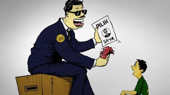 Pilkades di Tangerang Diwarnai Money Politic, Warga Tertangkap Tangan Memegang Amplop Berisi Uang