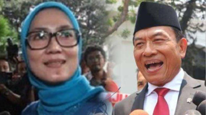 Kolase Ketua DPD Demokrat Banten Iti Octavia Jayabaya dan Kepala Staf Presiden (KSP) Moeldoko