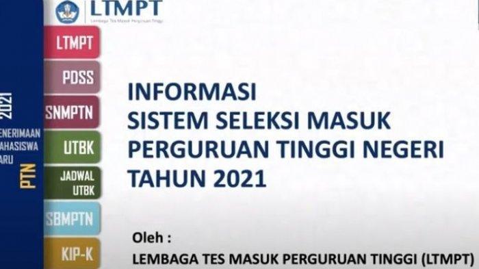Jadwa Lengkap SNMPTN 2021, Pengumuman Kuota Dilakukan Secara Terbuka pada 28 Desember 2020