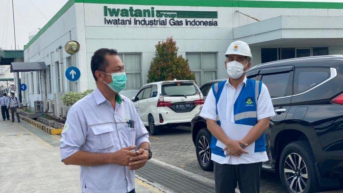 Jajaran direksi PLN dipimpin Wakil Direktur Utama Darmawan Prasodjo, dan Direktur Bisnis Regional Jawa, Madura dan Bali PLN, Haryanto WS, berkunjung ke PT Iwatani Gas Industri, Senin (5/7/2021).